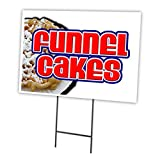 SignMission 18x24 Funnel Cakes 18'x24' Yard Sign & Stake Outdoor Plastic coroplast Window, 18' X 24' Single Sided