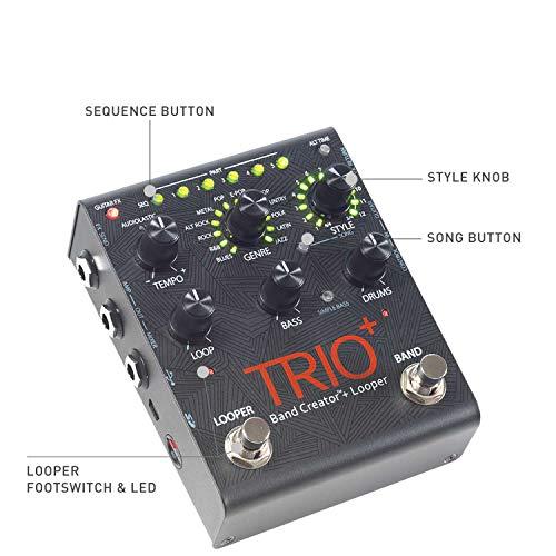 Digitech DIGDX - Pedal para guitarra eléctrica (100 V, mono, looper), color negro