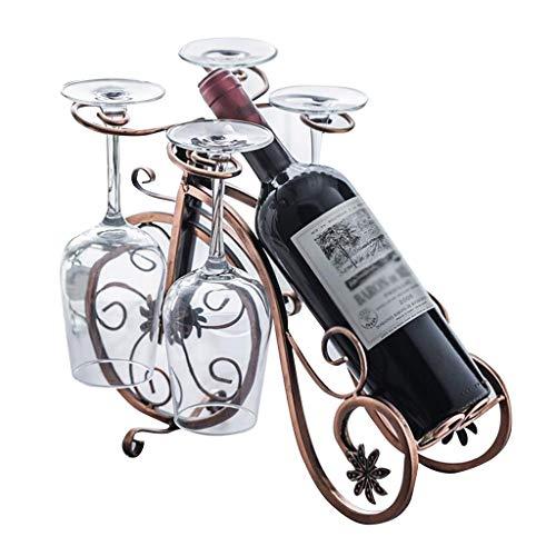 Weinregale Weinflaschenhalter Stapelbarer Flaschenhalter Eisenbecherhalter 1 Flaschenlager kommoden (Color : Brass, Size : 34 * 22 * 26cm)