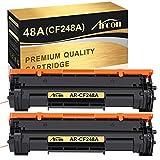 Arcon Compatible Toner Cartridge Replacement for HP 48A CF248A HP M15W HP M28W M29W HP Laserjet Pro M15w M15a M16a M16w HP Laserjet MFP M28w M28a M29a MFP M29w 48A CF248A Printer Toner (Black,2 Packs)