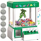 Bundaloo Claw Machine Arcade Game | Candy Grabber & Prize Dispenser Vending Toy for Kids with Sound | Best Birthday & Christmas Gifts for Boys & Girls (Green Dinosaur)
