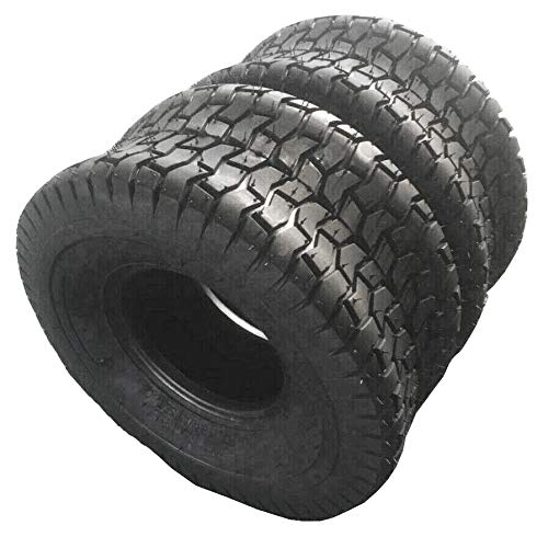 MOTOOS 2pcs Lawn Mower Tires 15x6.00-6 15x6.00x6 Turf Tractor Tires Tubeless 2PR