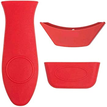 Hot Mitts For Cast Iron Skillets Pans D9C5 Set Of 3 Silicone Hot Handle Holder