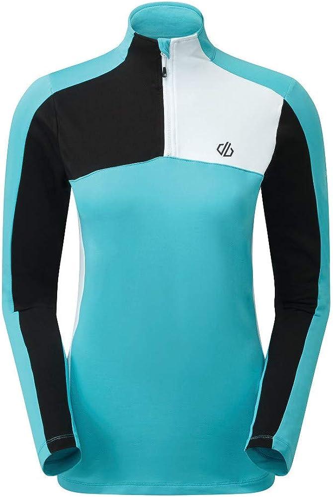 Dare 2b Damen Default Core Stretch Lightweight Warm Backed Quick Drying Half Zip Knitted Fleece Dehnbare Mittelschicht