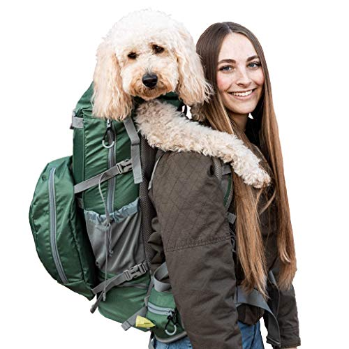 K9 Sport Sack | Rover 2 Dog Carrier Backpack for Small and Medium Pets | Front Facing Adjustable Dog Backpack Carrier | Fully Ventilated | Veterinarian Approved (X-Large, Rover 2 - Green)