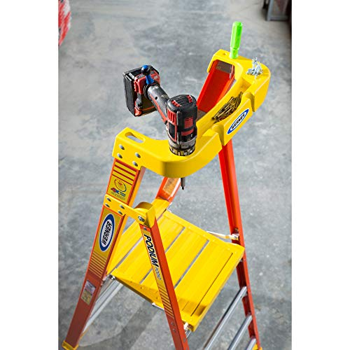 WERNER CO PD6206 Type IA Aluminum Podium Ladder - 6'