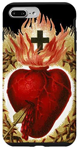 iPhone 7 Plus/8 Plus Sacred Heart of Jesus Art Christ Vintage Catholic Blessing Case