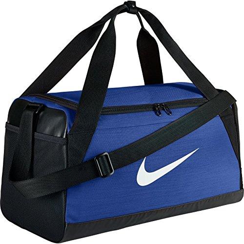 Nike NK Brsla S Duff Sac de Sport de Training (Petite Taille) Mixte Adulte, Bleu Électrique/Noir/Blanc, 51 x 25.5 x 28 cm, 40 l