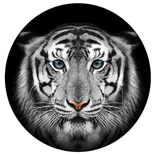 Amosfun Adhesivo decorativo para suelo de tigre, diseño redondo, para decoración de cumpleaños