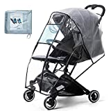 Stroller Rain Cover & Mosquito Net,Universal Baby Jeep Stroller, Protection Against Mosquitos,Clear Windproof Waterproof,Travel Umbrella Cover for Pram,Outdoor Use (Air Holes)