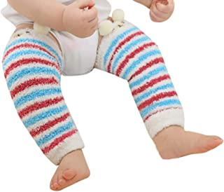 calcetines gruesos para bebé otoño e invierno polainas cálidas de niño y niña cubierta de pierna caliente juego de piernas de felpa dibujos animados lindo