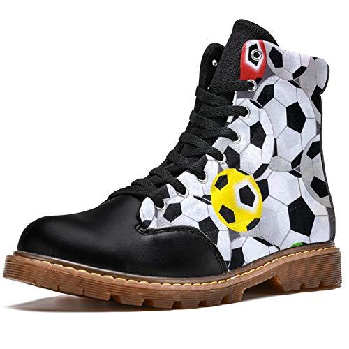 NewLL Botas de combate con cordones de ocho ojos para mujer, color blanco, de fútbol, de color blanco, botas de invierno, color, talla 39 EU