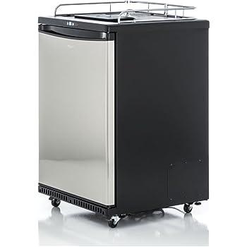 Schanks/äule Elegant und Kompensatorhahn Bierbar - inkl Fassbierk/ühlschrank bis zu 50L F/ässer