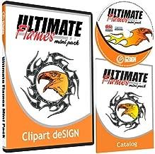 Flames Clipart-Vinyl Cutter Plotter Images-Vector Clip Art Graphics CD-ROM