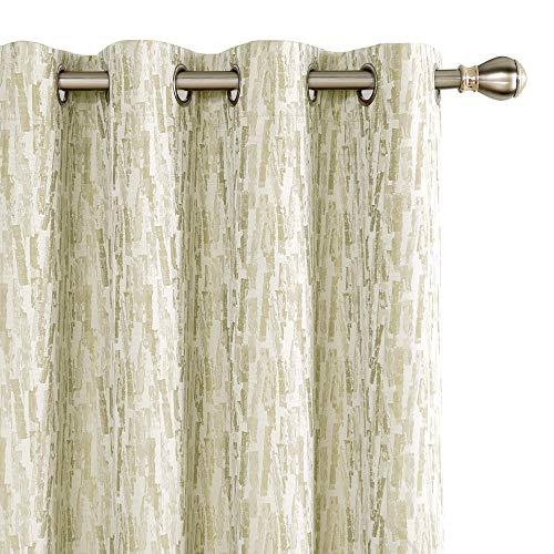 Deconovo Tende Oscuranti Totale Termiche Isolanti Moderne con Occhielli e Rivestimento per Camera da Letto 132x138cm 2 Pannelli Beige