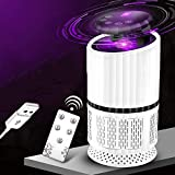 CLL Asesino eléctrico de mosquitos, lámpara UV USB, silencioso, efectivo, sin radiación, asesino de insectos, trampa con lámpara de trampa, para interior portátil (blanco