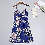 Handaxian Lencería Pijamas Florales Vestidos de bebé Lencería Ropa de Dormir Camisones y Vestidos Conjuntos Azul Marino L