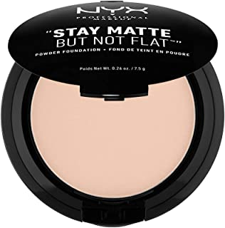 NYX Professional Makeup Stay Matte But Not Flat Powder Foundation, Porcelain, 0.26 Ounce
