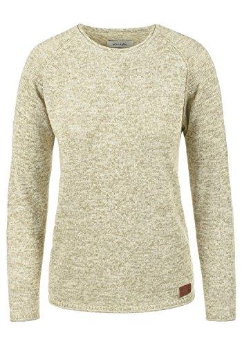 BlendShe Daniela Damen Strickpullover Feinstrick Pullover Mit Rundhals Und Melierung, Größe:XL, Farbe:Bone White (70016)