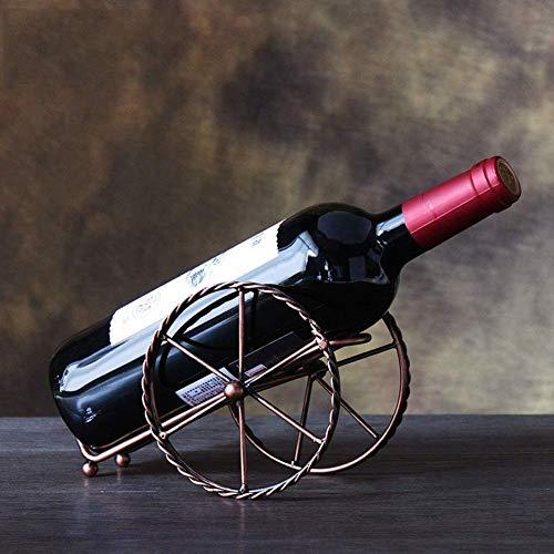 KANJJ-YU Estante del vino vino arma retro botellero coche bastidor del carro estante del vino vino vino de la decoración estante de la botella, la botella de la vendimia Estante Estante de almacenamie