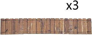ZHANWEI Garden Fence Picket Fencing, Bendable Wooden Garden Edging, Lawn Guardrail Outdoor Flower Bed Edging Decor, 4 Size...