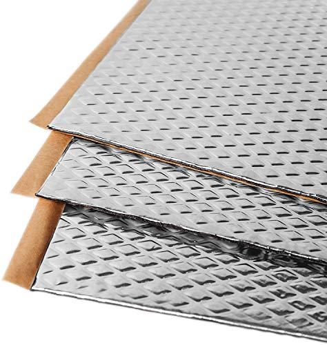 Noico 2 mm 1,7 mètres carrés Tapis d'isolation acoustique en butyle pour voitures, isolation acoustique de bruit et insonorisation
