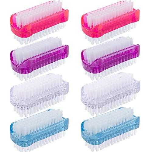 BQTQ 8 Stück Nagelbürste Doppelseitige Nagelbürste Handwaschbürste Kunststoff Reinigung Bürste Nagelreinigung Bürste für Hand und Nagel Reinigung