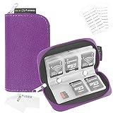 Speicherkarten- Tragetasche - Geeignet für SDHC und SD Cards - 8 Seiten und 22 Slots - ECO...