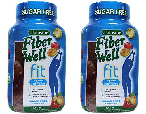Vitafusion Fiber Well Fit Sugar Free Gummies - 90 ct, Pack of 2