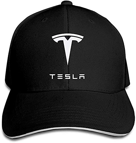 Wdskbg YBro-Custom Simple Tesla Motors Sandwich Flex Fit Hat Baseball Cap Black