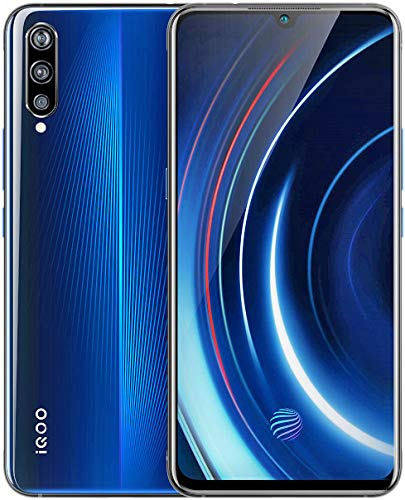 Vivo iqoo(アイクー) RAM 6GB/8GB + ROM 128GB Snapdragon 855 Funtouch 9 6.41インチSuper AMOLEDディスプレイ 4000mAh超大容量バッテリー 44W超急速充電 トリプルカメラ搭載 スマートフォン 本体(グローバル版/日本語対応・Googleアプリ対応) (ブルー, 6GB+128GB)