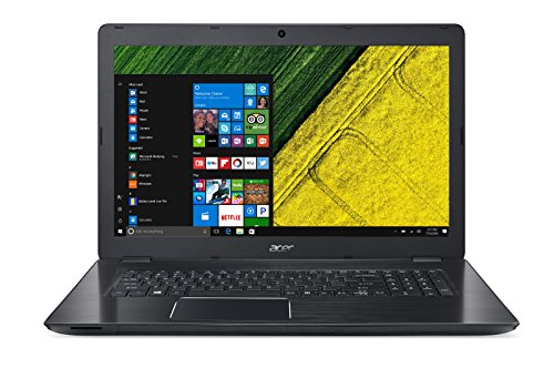 Acer Aspire F 17 (F5-771G-58P2) 43,94 cm (17,3 Zoll Full-HD matt) Laptop (Intel Core i5-7200U, 8GB RAM, 128GB + 1.000GB HDD, GeForce GTX 950M, Win 10 Home) schwarz