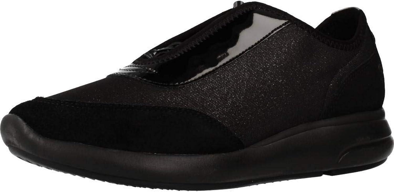 Geox Damen Laufschuhe, Farbe Schwarz, Marke, Modell Damen Laufschuhe Laufschuhe D941CB Schwarz  günstig online