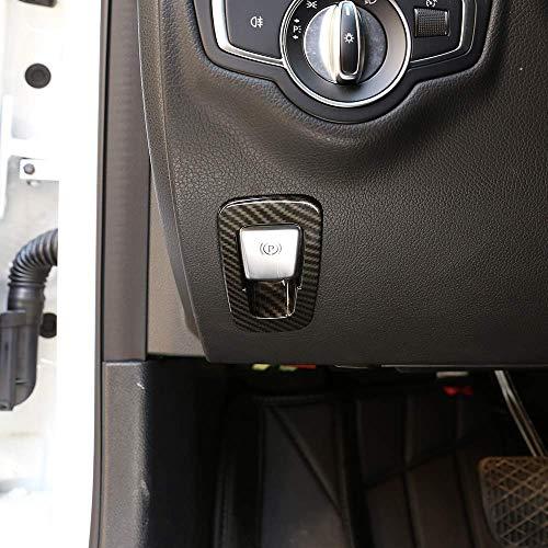 Garniture de Couvercle de commutateur de Bouton de Frein à Main électronique Chrome ABS pour la Classe de GLC C W205 X253 Classe W213 2015-2018 en Fibre de Carbone