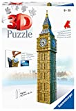 Ravensburger- Big Ben 3D Puzzle, 216pc, Color marrón, Amarillo, Gris, 27.2 x 19.3 x 6.9 (646607)