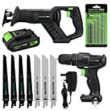 Cordless DIY <span class='highlight'>Power</span> Tool Kit GALAX PRO, 20N.m Single Speed Drill Driver 20V, Reciprocating Saw 0-3000SPM, 1,3Ah Li-ion Battery Pack with Charger