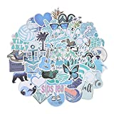 MENGYUE 50 Uds Dibujos Animados Azul Estilo Chica Pegatinas para portátil Moto monopatín Equipaje refrigerador portátil Pegatina de Juguete
