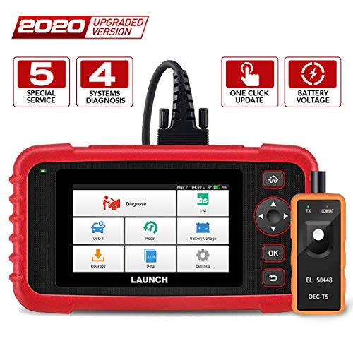 LAUNCH OBD2 Scanner -CRP129X Scan Tool Car Code Reader Android Based Diagnostic Tool for Engine Transmission ABS SRS with Oil/EPB/SAS/TPMS/Throttle Body Reset and AutoVIN Wi-Fi Updates