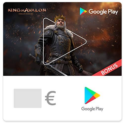 Google Play-Gutscheincode Config - für Deutschland - per E-Mail. Sichern Sie sich einen Bonus im Wert von bis zu 75 € in King of Avalon (nur Deutschland)