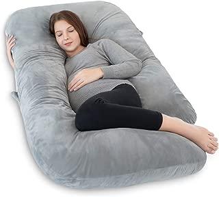 INSEN Maternity Pillow,Pregnancy Body Pillow, U-Shaped Pregnancy Pillow for Pregnant Women with Velour Body Pillow Cover