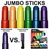 Kids Hair Chalk - JUMBO HAIR CHALK PENS - RAINBOW...