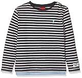 s.Oliver Baby-Jungen 65.908.31.8688 Langarmshirt, Blau (Dark Blue Knittedstripes 59g0), (Herstellergröße: 74)