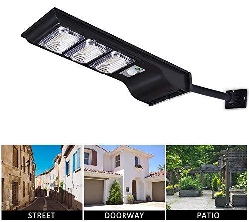 Dailyart Solar Straßenlaterne 30W 90 LED Solarlampen für Außen mit 120°Infrarot Bewegungsmelder 6000KSolarleuchte Garten IP65 Wasserdichte Solar Wandleuchte für Garten, Patio, Zaun, Straße