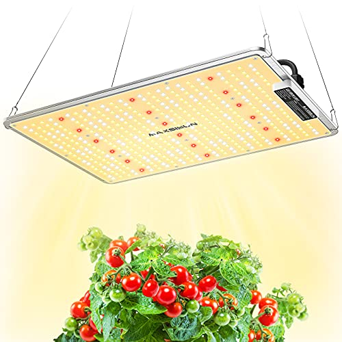 150W LED Grow Lights, MAXSISUN PB 1500 Grow Lights for Indoor Plants Full Spectrum, High-Performance Plant Growing Lamps with Samsung Diodes and Sosen Driver for a 2.5x2.5 Grow Tent Veg and Flowering