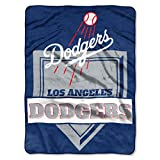 The Northwest Company 1 Pc, Los Angeles Dodgers Blanket 60x80 Raschel Home Plate Design, Acrylic & Polyester, Extra Warm & Superior Durability, Easy Care, Machine Washable & Dryable