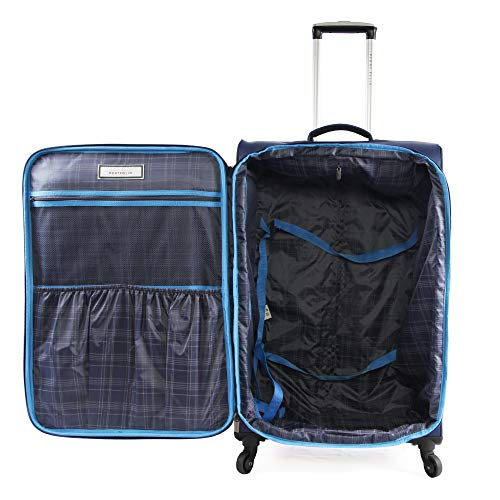 Perry Ellis 2 Piece Fortune Lightweight Luggage Set, Navy, One Size