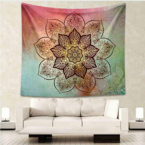 MEOBHI Wandtapijt Lotus Mandala Tapestry Wandtapijt Hanghippie Bohemia Tapestry Art Mattress Beach Yoga Mat Throw rug Wall Decor Tapestry