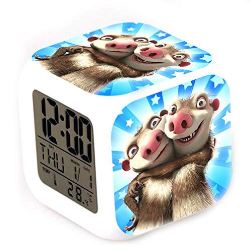 Ice Age Digitale LED-kleur veranderende thermometer Gloeiende kubus wekker