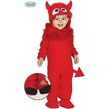 Giurca sl.- Disfraz de Diablo bebé 6/12 Meses, Color Rojo, de 6 a ...