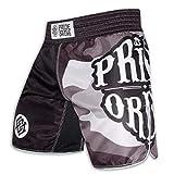 Pride or Die Fight Shorts Reckless Urban Camo - MMA Fight Fitness No Gi Grappling Jiu Jitsu Shorts para Hombre, Jiu Jitsu, Todo el año, Hombre, Color Negro/Camuflaje, tamaño Small